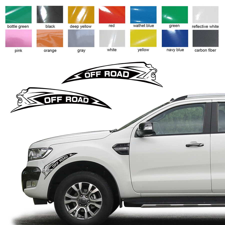 Customize for all car off road ferocious jump lions stickers 2pc side body graphic vinyl protect