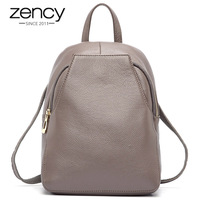 Hot Sale New Arrival 100 Genunie Leather Women Backpack Travel Bags Preppy Style For Girls School