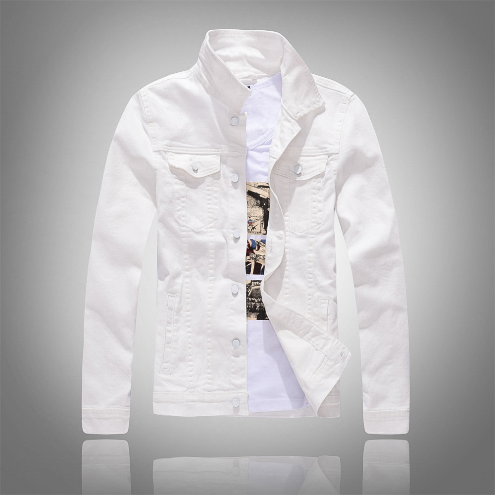 Mees brändi moe denim jope mantel taskud mootorratta denim jope - Meeste riided - Foto 5