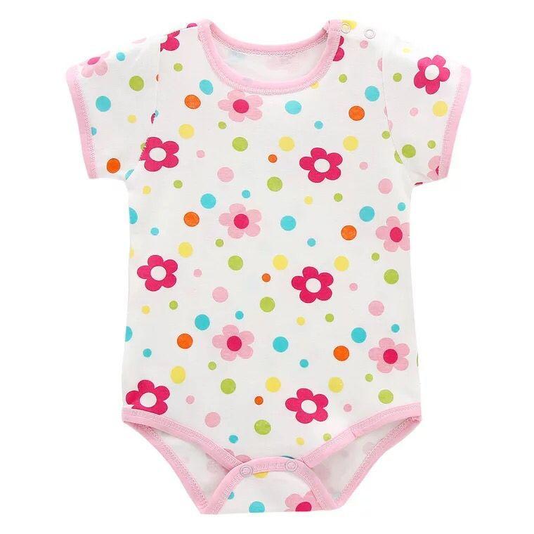 Body z krótkim rękawem Body dla noworodka Dziewczynka Body - Odzież dla niemowląt - Zdjęcie 4