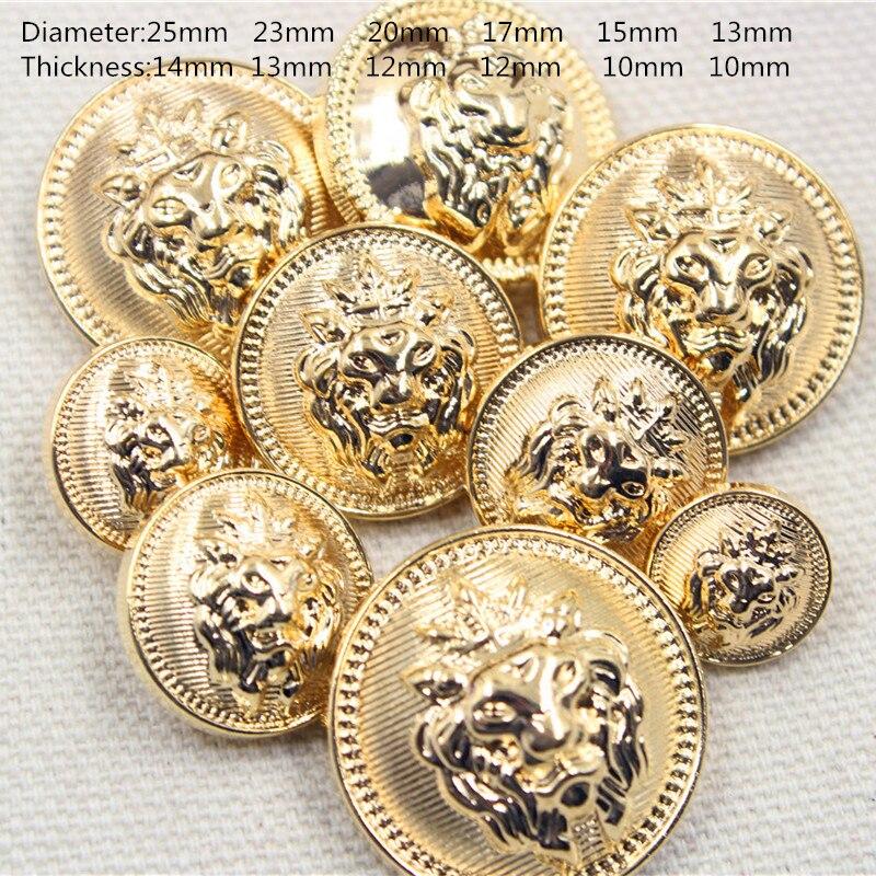 Envío libre, 20 UNID diámetro de 13mm-25mm botones de oro, accesorios de vestir, camisa, botones de capa, JS255