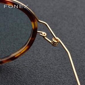 Image 4 - إطار نظارات من سبائك التيتانيوم للرجال والنساء قصر النظر البصرية الدنمارك خفيفة وصفة طبية نظارات بدون مسامير الكورية 98613