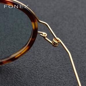 Image 4 - Titanium Alloy Glasses Frame Men Women Myopia Optical Denmark Ultralight Prescription Eyeglasses Korean Screwless Eyewear 98613