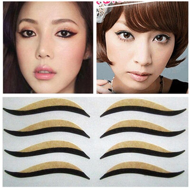 50pcs/5packs  Cat  Eyes Sticker Black Eyeliner & Double Eyelid Tape Smoky Tattoo Eye Makeup Cat Eye Look SP-1002
