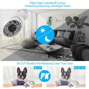 "Image 4 - CCTV Camera 1/3 ""CMOS Kleur 1080 P Hoge resolutie 24 Lampen Nightvison Indoor Dome Camera Analoge Security Camera"