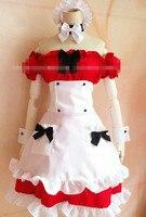 Kuroko no Basuke RAKUZAN Akashi Seijuro Female Version Dress Cosplay Costume Maid Dress Free Shipping