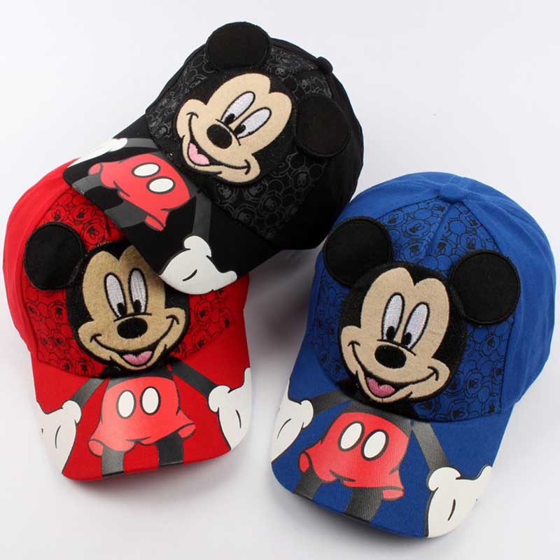 Cartoon Mickey Ear Hats   Caps   Baby Accessories For Kids Hats   Caps   2018 Hot Sale Cute   Baseball     Cap   Hip Hop Boy Hats   Caps   2-8Y