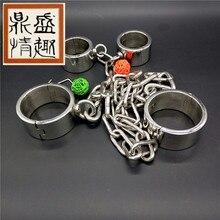 Секс Инструменты для Лидер продаж Тяжелая наручники и Legcuffs БДСМ фетиш Связывание жгут сдержанность комплект секс-игрушки для взрослых для обувь для мужчин и женщин.