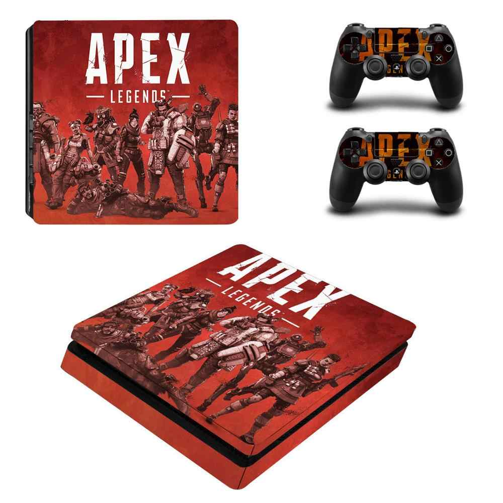 New Vinyl Decal Skin For PS4 Slim Console Cover For Sony Playstaion 4 Slim Decal Stickers Controller Accessories