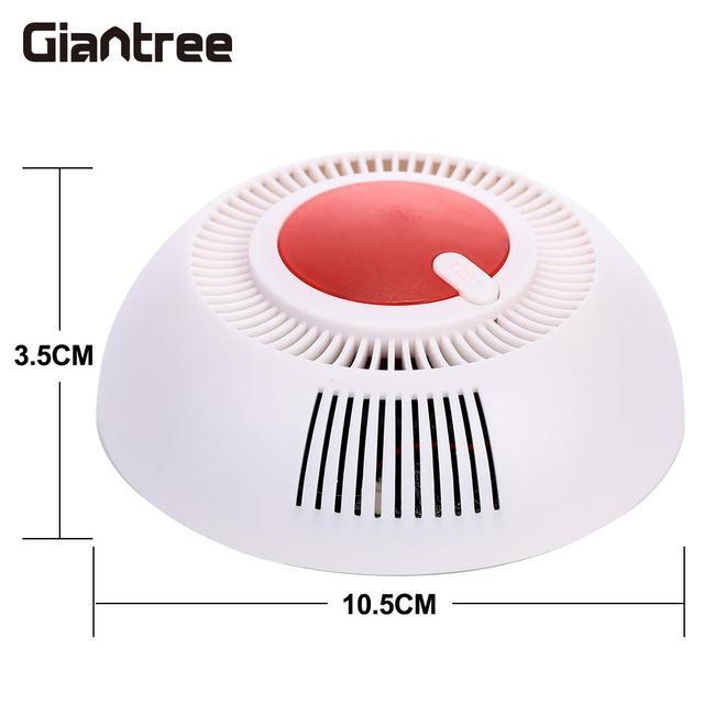 85dB alarme incendie accessoires indépendants détecteur de fumée avertissement ABS détecteur de fumée