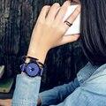 Clássico Simples Estrela de Couro Das Mulheres Assistir relógio de quartzo Dos Homens Top marca de Luxo Famosos relógios Estudantis Para Ama relogio feminino