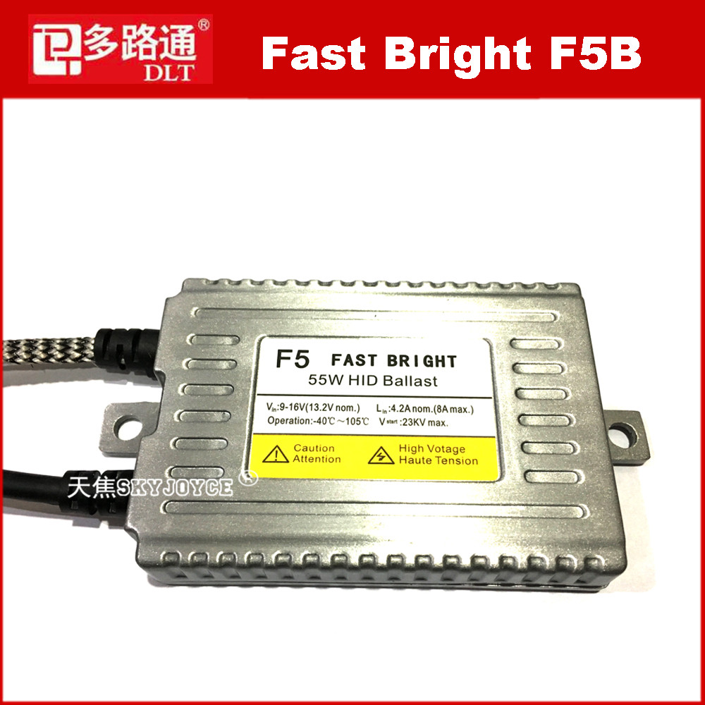 2 X 100% original DLT fast bright 55W ballast for Cnlight H7 hid bulbs YEAKY D2S H11 headlight DLT F5 ballast headlight F2 bulb dlt original 35w f3 hid ballast 9 16v fast start quick bright dig ac slim ballast for xenon lamp bulb high quality