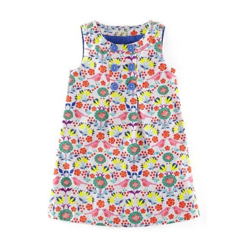 2-7T Princess Floral Baby Girls Dresses Sleeveless party wear cotton summer children dresses fashion new designs kids dresses 6