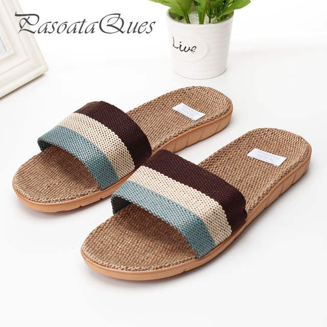 70e933a7b87123 Hemp Men Women Shoes Couples Breathable Home Summer Indoor Spring House  Slippers Pasoataques Brand Asspfhp102-in Slippers from Shoes on  Aliexpress.com ...