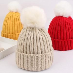 Autumn Winter Warm Baby Hat Beanie Soft Pompom Baby Girl Boy Hat Cap Knitted Kids Hat Bonnet Infant Toddler Children Cap