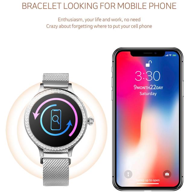 M8 Smart Watch Women Wristband IP68 Waterproof Lady Smart Band Heart Rate Monitor Fitness Tracker Health Bracelet Wristwatch
