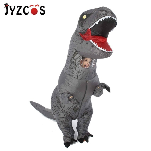 T Rex Christmas.Us 25 83 30 Off Aliexpress Com Buy T Rex Dinosaur Inflatable Costume For Children Adult Women Men Halloween Christmas Cosplay Jumpsuit Movie Funny