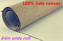 658g 1.7m painting canvas roll & heavy pure jute painting primed canvas roll for artist