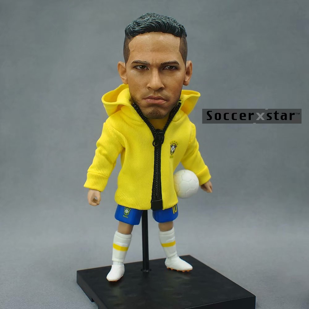 Soccerxstar Figurine Football Player Movable Dolls 10# NEYMAR (Brazil 2018) 12CM/5in Figure BOX include Accessories стоимость