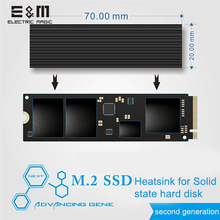 E&M 560W/mk 2280 SSD Cooling Fin Silica Gel Air Heatsink Radiation Dissipate M.2 NGFF NVME Laptop DIY PC Overclocking Fan