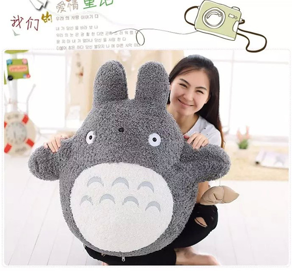 large 80cm anime totoro plush toy zongzi totoro hugging pillow ,Christmas gift h663 free shipping about 60cm cartoon totoro plush toy dark grey totoro doll throw pillow christmas gift w4704