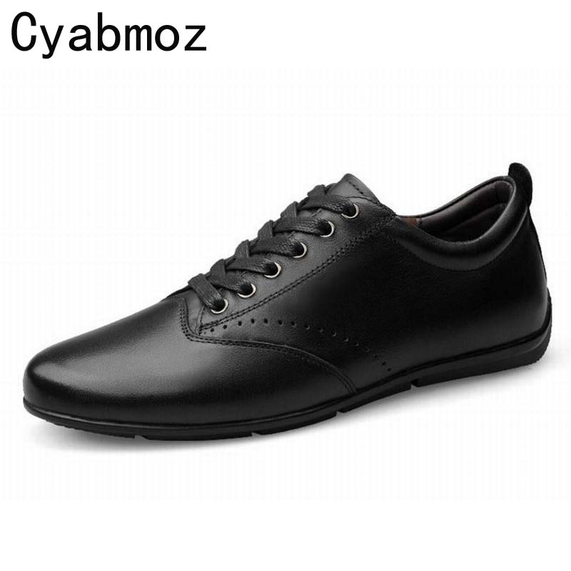 Men's Casual Shoes Genuine Leather Black/Brown Lace-up Shoes Moccasins Male's Flat Loafers Zapatos Hombres Big Size 45 46 47 women shoes flat genuine leather hand made ladies flat shoes black brown coffee casual lace up flats woman moccasins 568 5