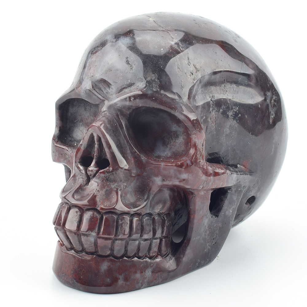 5,2 ''natural гелиотроп резной кристалл кварца скульптура черепа драгоценный камень с украшением в виде кристаллов череп реальное Исцеление дом