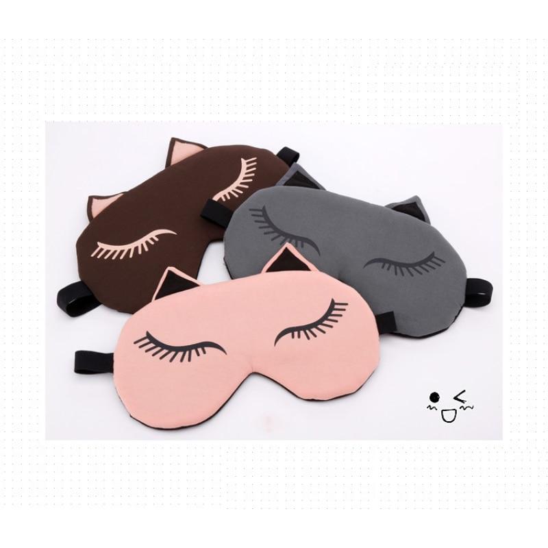 Cute Cat Sleep Eye Маскасы Travel Eyepatch Blindfold - Денсаулық сақтау - фото 3