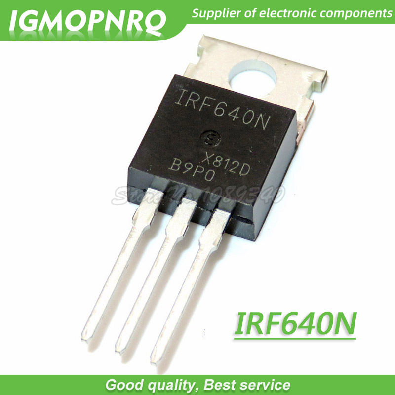 three IRF640 IRF640N Power MOSFET 18A 200V TO-220 IR LOT of 3