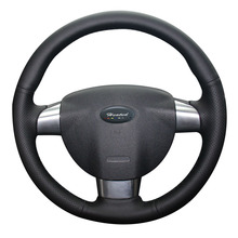 Heated Car Steering Wheel Cover for Ford Focus 2 (3 spoke) car styling Microfiber leather Braid on the steering wheel