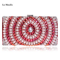 La MaxZa Wholesale Women Minaudiere 2018 Fashion Party Banquet Bag Clutch Bag Evening Clutches For Weddings Evening Bag