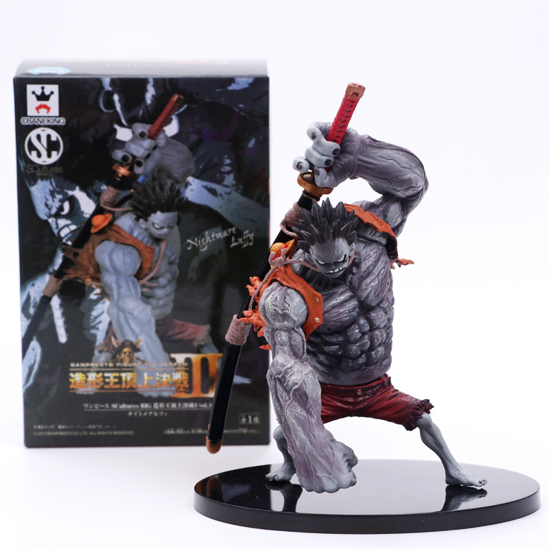 Anime One Piece Nightmare Luffy Special Gray Ver Action Figure  Collection Model Toys | 15cm
