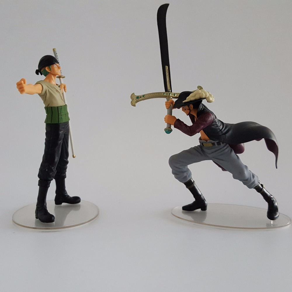 One Piece Action Figures Zoro vs Mihawk Toys One Piece ...