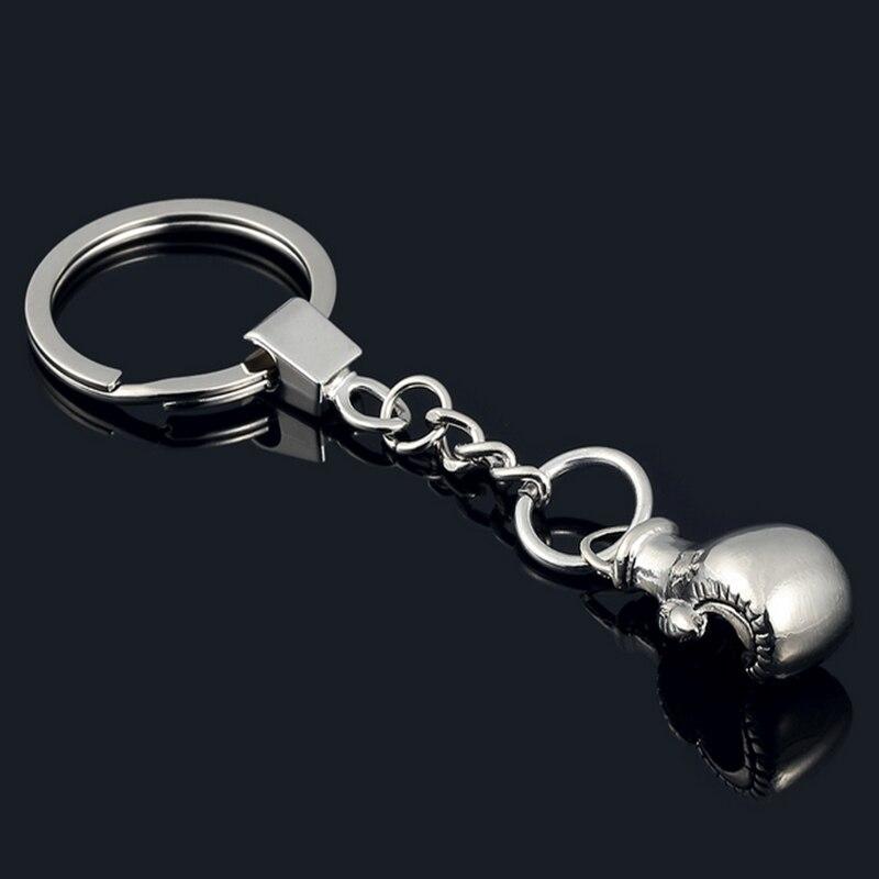 Mini Cute Boxing Gloves Key Chain Bag Pendant Key Ring Sport Fist Keychains Boxer Golvers Fun Jokes Props Novelty Toy