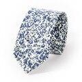 2017 Nueva gama Alta de Empate 6 cm Delgado Algodón Floral de la Boda Corbata Corbatas Corbatas para Hombres de Partido ocio Corbatas Gravatas