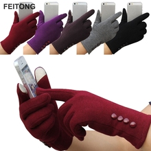 2017 Fashion Women Winter Gloves Female Ladies Girls Cotton Glove Outdoor Warm Full Finger Gloves YW cheap feitong Adult Wrist Solid GF02 Gloves Mittens