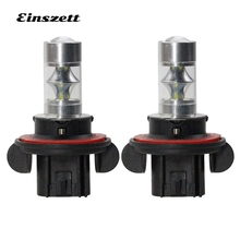 2pcs 9008 LED Fog Light Bright White LED HeadLight Bulb High Power 12V 12SMD 2835 12W DRL Lights Motorcycle Car Accessories