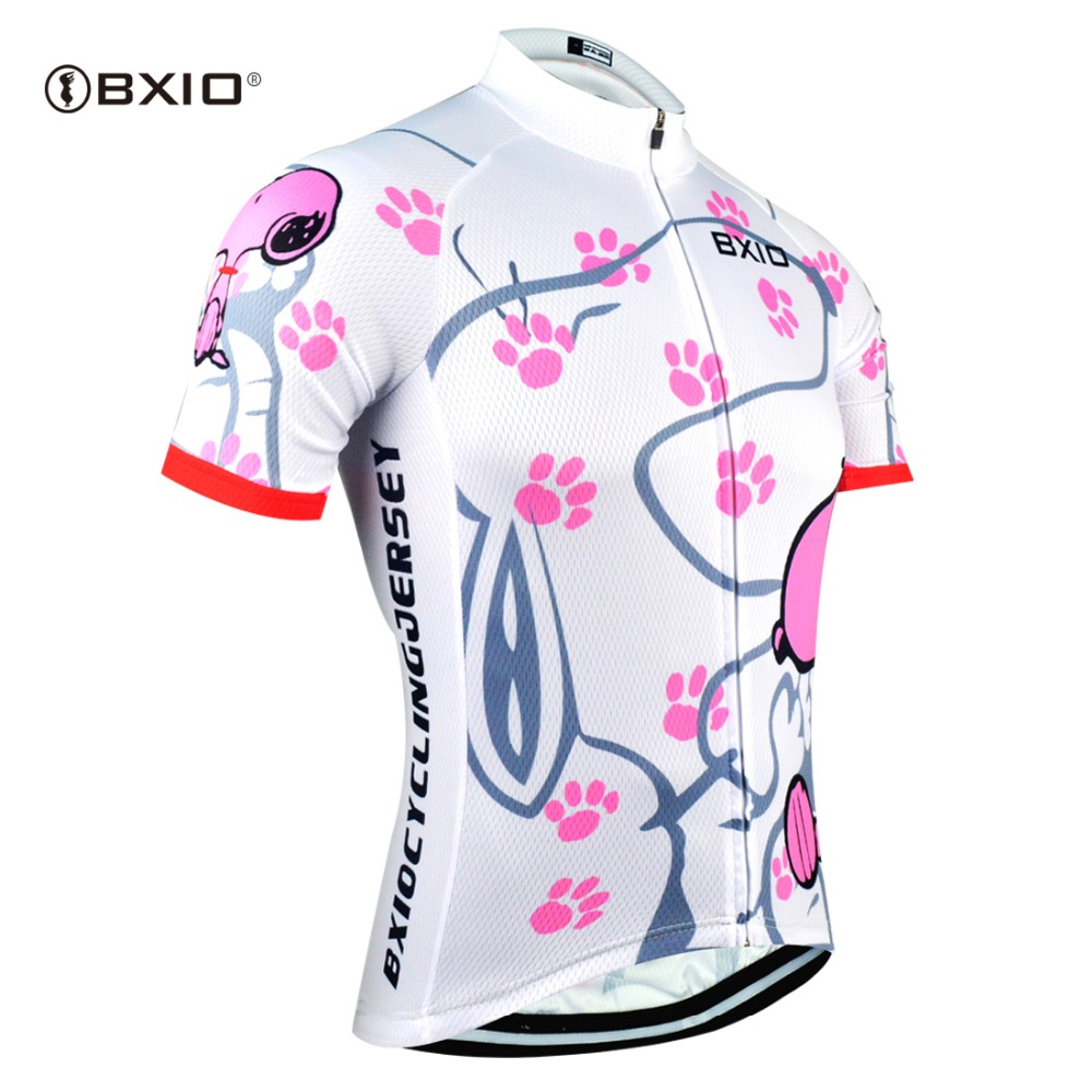Bike-Clothing Cycling-Jersey BXIO Maillots-De-Cyclisme Short-Sleeve Skinsui Women BX-0209W021-J