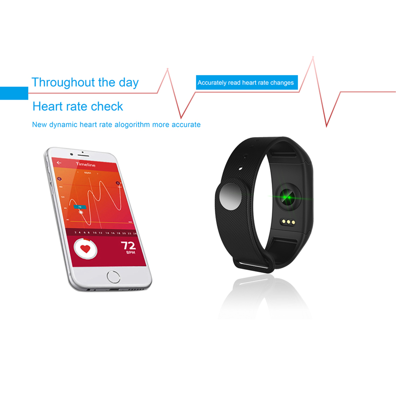 Image 4 - F1 Plus Color Lcd Screen Fitness Tracker Sleep Tracker Smart Bracelet Heart Rate Monitor Waterproof Smart Watch Activity Tracker-in Smart Wristbands from Consumer Electronics