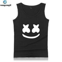 a0f25fa0ab828 New Brand Marshmello Face Fitness Tank Tops Plus Size Summer Vest  Bodybuilding Sleeveless Shirt Fashion Hip