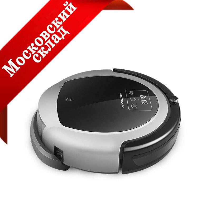 (Mosca Warehosue) LIECTROUX Robot Aspirapolvere B6009, Mappa di Navigazione, Intelligente di Memoria, di Aspirazione 3000 pa, grande Serbatoio di Acqua, Durl Lampada UV