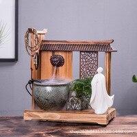 Quemador De Incienso Fountain Aquarium Humidifier Sitting Room Furniture Feng Shui Plutus Opening Housewarming Birthday Gift