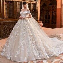 Julia Kui Vintage Princess Strapless Ball Gown Wedding Dresses With Chapel Train Off The Shoulder Sending Veil Gift