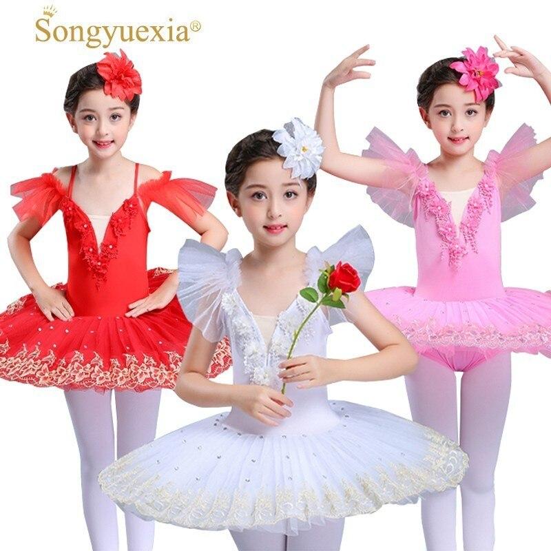 Songyuexia Children Professional Swan Lake Tutu Ballet Costume Adult Professional Ballet Pink Classic Costume