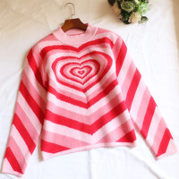 2019 Winter sweater women turtleneck Heart Unif Omighty christmas sweater pull femme hiver harajuku longsleeve red pullover