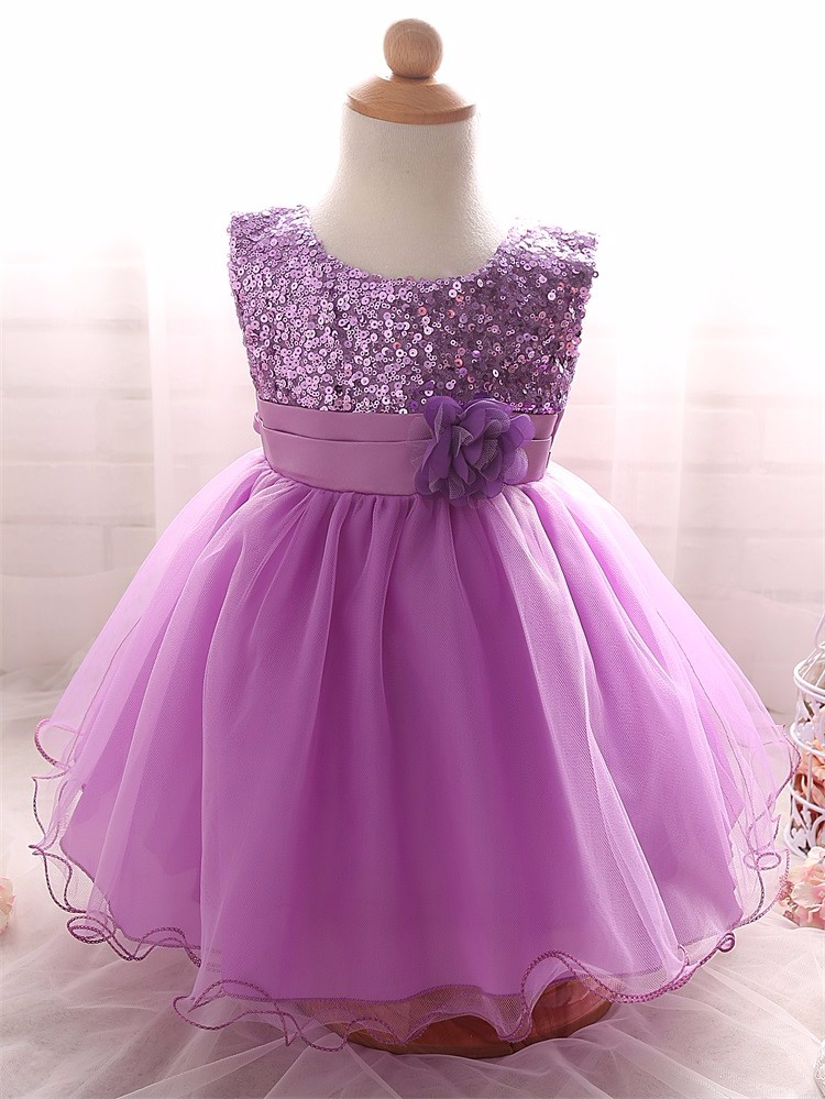2017 New style Kids Clothes Girls Flower Dress For Wedding Party Sequins Birthday Gown Little Girl Baby Clo