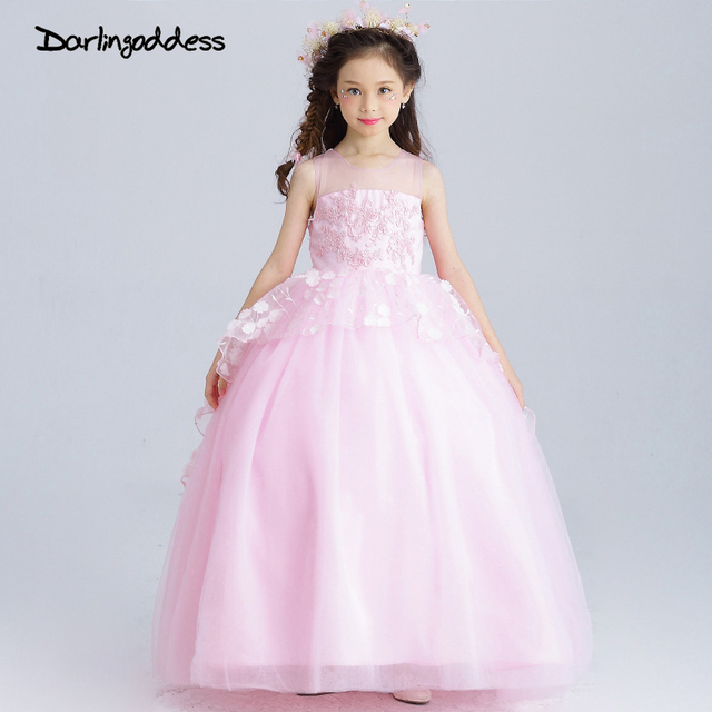 2017 cheap 3d flower girl dresses children party kids cloothes 2017 cheap 3d flower girl dresses children party kids cloothes toddler bowknot pink princess ball gowns mightylinksfo