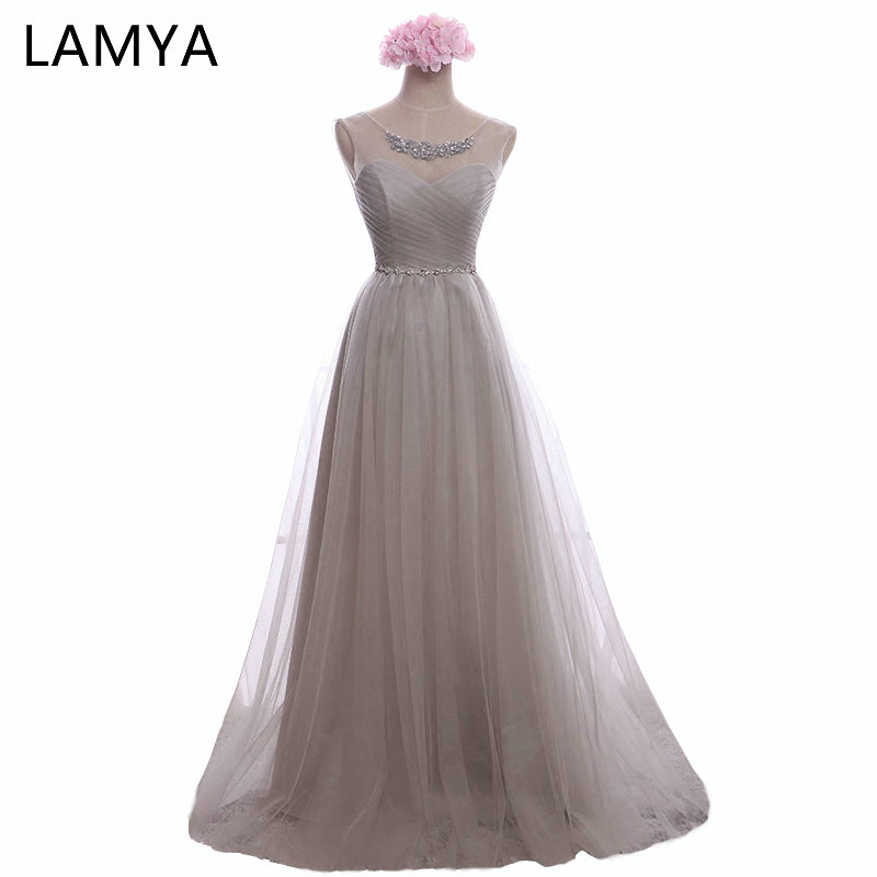 LAMYA Cheap Sweetheart Lace Floor-length Tulle Evening Dresses 2019 Fashion Elegant Prom Dress For Women Real Photo Gowns