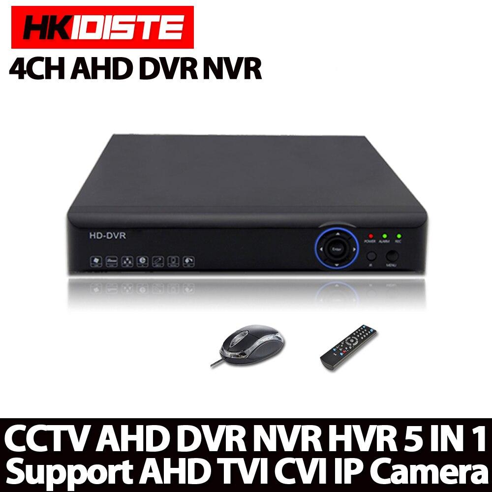 4 Channel 1080N Full AHD DVR Real time Recording Playback With HDMI 4Ch 960P 4Ch 5MP NVR Onvif CCTV Recorder Hybrid DVR NVR