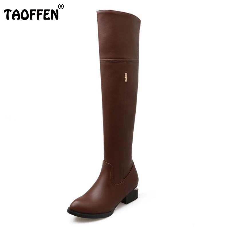 New Fashion Female Pointed Toe Over Knee Long Boots Women Square Heel Shoes Woman Brand Autumn Winter Knight Boot Size 34-46 brand women autumn winter boots 8 5 cm square heels fashion stretch fabric socks boots woman pointed toe boots for women k 067